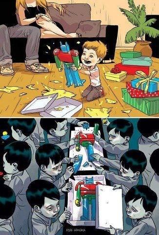 Kinderarbeit und Kinder-Geschenke